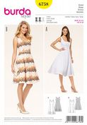 6758 Burda Pattern: Misses' Burda Vintage Style Dresses